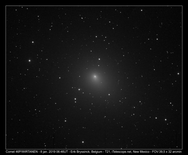 comet 46P/WIRTANEN on 8 jan.2019