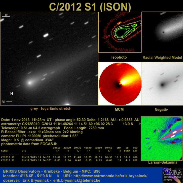 comet C/2012 ISON on 1 nov.2013
