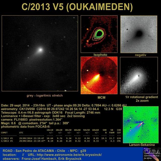 observation comet C/2013 V5 (OUKAIMEDEN)