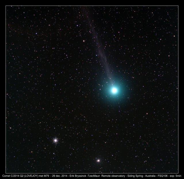 comet C/2014 Q (LOVEJOY) met M79