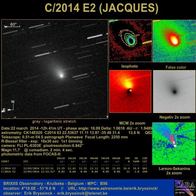 Image comet C/2014 E2 (JACQUES)